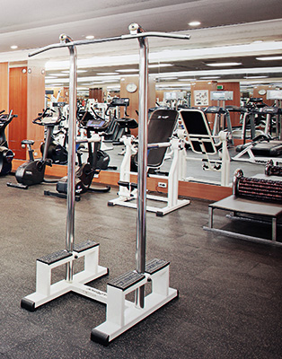 A variety of fitness equipments